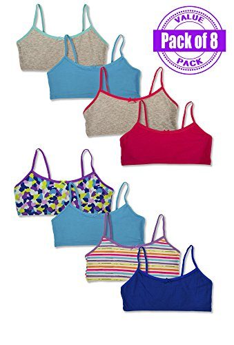 Hane's Girl's Crop Top Bralette Cotton S - Print Sport Bra Shopping Results