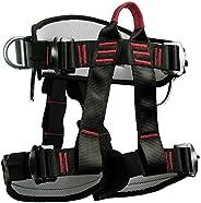 Eaarliyam Climbing Harness Thicken Adjustable Half Body Harness Safety Belt for Rock Mountain Tree Climbing Tr