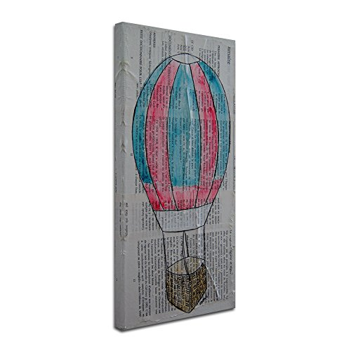 Trademark Fine Art Hot Air Balloon Carnival Artwork by Nicole Dietz, 24 by 47-Inch