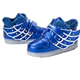 Wings Led Light Up Dance Shoes USB Luminous Fashion Sneakers for Kids Boys Girls Christmas Halloween Gift(Blue 1 13 M US Little Kid)