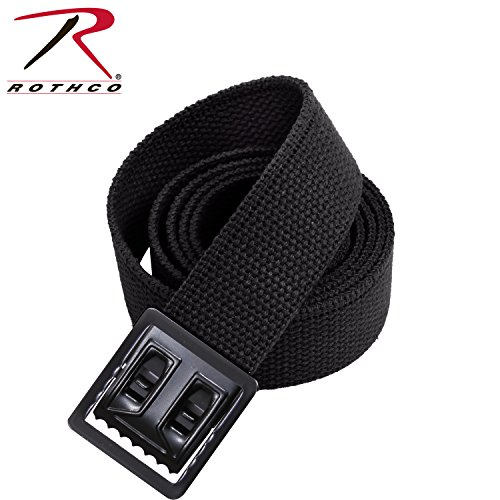 Rothco Plus Web Belts with Black Open Face Buckle, Black, 54''