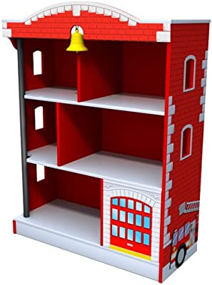 Amazon KidKraft Firehouse Bookcase Toys Games