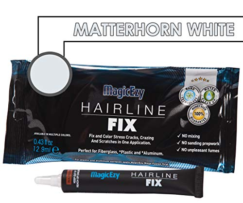 MagicEzy Hairline Fix (Matterhorn White) - Boat Gelcoat Crack Repair - Fills and Colors Fast