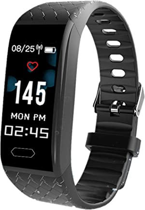 ESHOWEE Fitness Tracker with Heart Rate Monitor, Activity Tracker with Connected GPS, Bluetooth Fitness Smart Watch with IP67 Waterproof Wristband, Pedometer, Calories Mode,Chrisymas