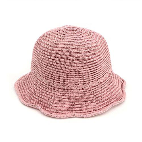 - JIANGTAOLANG sunshade Sun Hat Tide Sunscreen Wild Korean Straw Hat Women Summer Small Fresh Beach Cap Pink