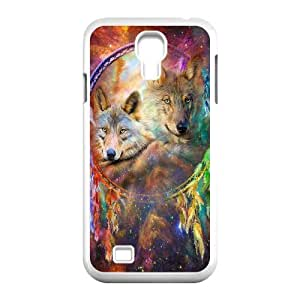WJHSSB Customized Wolf Dream Catcher Pattern Protective Case Cover Skin for Samsung Galaxy S4 I9500