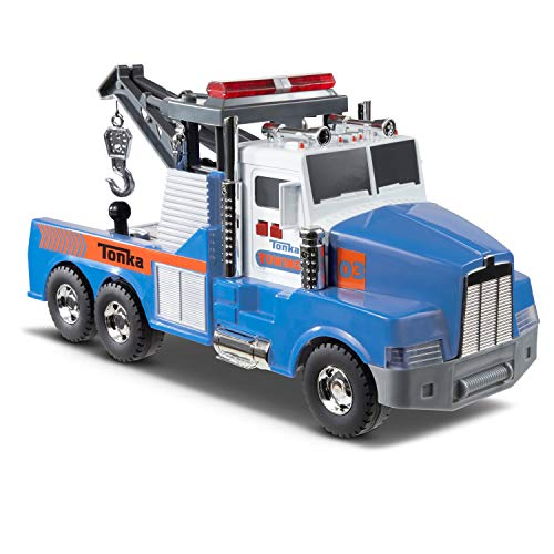 Tonka Mighty Motorized Tow Truck Toy Vehicle