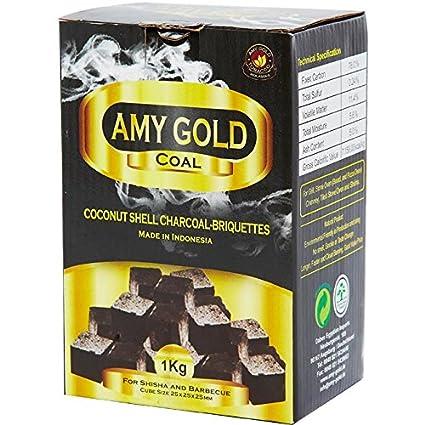 AMY oro color carbón + para barbacoa gris 1 kg