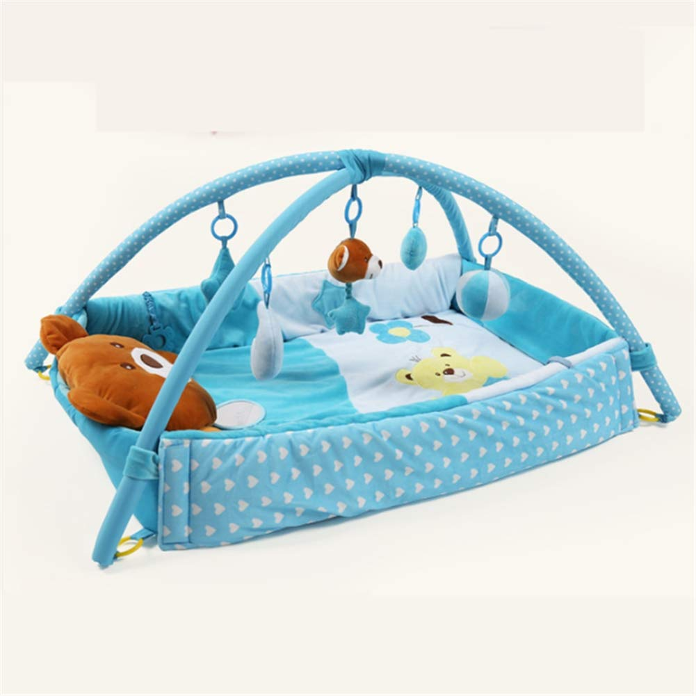 bluee Baby Playmats Play Mat & Activity Gym Baby Play Mats Carpet Kids Room Soft Cotton Crawling Mats Floor Rug Playmats for Baby Gym Mat