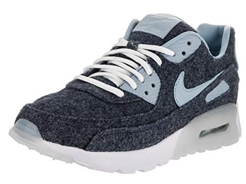 Nike Women's Air Max 90 Ultra PRM Midnight Navy/Blue Grey White Running Shoe 6.5 Women US