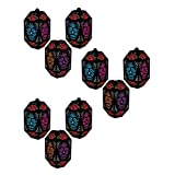 """Beistle 00375, 9 Piece Day of The Dead Paper Lanterns, 7"""""""