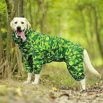 Raincoat Pet Dog Raincoat v/êtements imperm/éable r/éfl/échissant /à col Capuche Jumpsuit for Les Petites Big Rain Dogs Cape Golden Retriever du Labrador