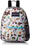 "JanSport Womens Classic Mainstream Half Pint Backpack - Multi Stickers / 12.3""H X 10""W X 6.5""D"