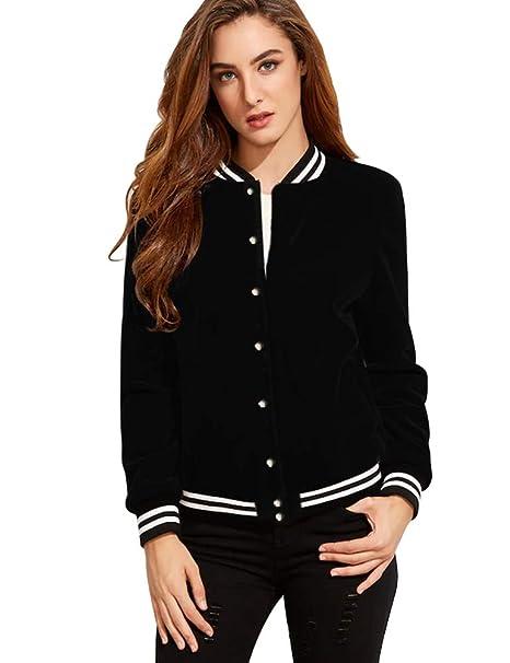 Amazon.com: FV Relay® de la mujer chaquetas de béisbol ...