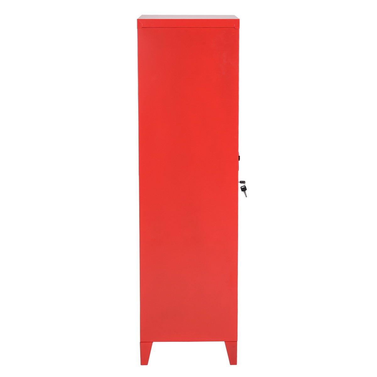 HouseinBox Office File Storage Metal Cabinet 3 Door Cupboard Locker Organizer Console Stand 3-in-1 (RED-Standing Locker) by HouseinBox (Image #9)