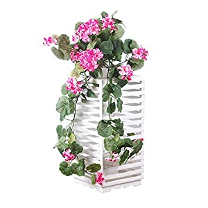 ZHILIAN Artificial Flowers Artificial Fake Begonia Silk Cloth Flower Green Leaf Vine 76cm Artificial Hanging VineHanging Garland for Home Party Wedding Decor 14