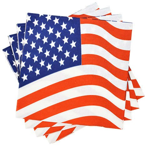 Napkins /& Tablecloth Patriotic Party Supplies Memorial Day Or 4th of July Bundle of 3 Items Plates
