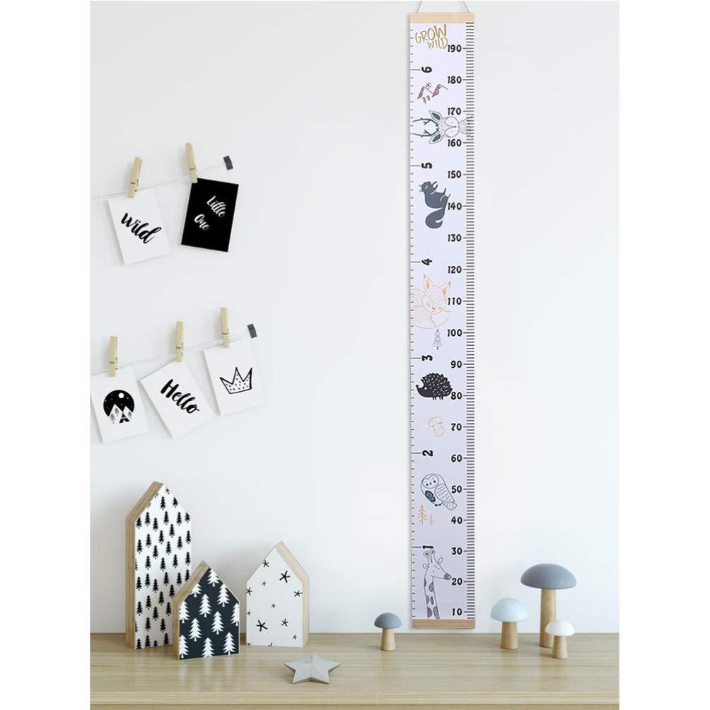 decoraci/ón de la pared para la habitaci/ón de los ni/ños STOBOK Gr/áficos de crecimiento del beb/é tabla de crecimiento b/úho
