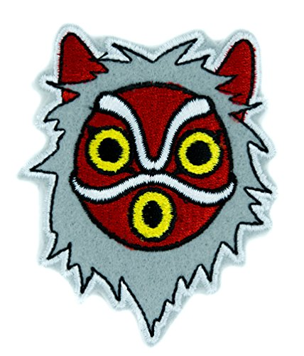 Princess Mononoke San Wolf Mask Patch Iron on Applique Alternative Clothing Anime ()