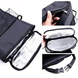Deler Insulated Auto Car Seat Back Organizer Bottle Drinks Holder / Multi-Pockets Travel Storage Bag / Car Seat Organizer for SUV, Trunk(Heat/Cool-Preservation)