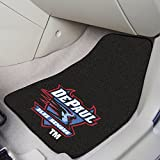 Vehicle Front Floor Mats w Official DePaul Blue Demons Logo - Set Of Two