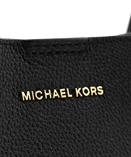 MICHAEL Michael Kors Mujeres bolso de cuero de grava Negro Negro
