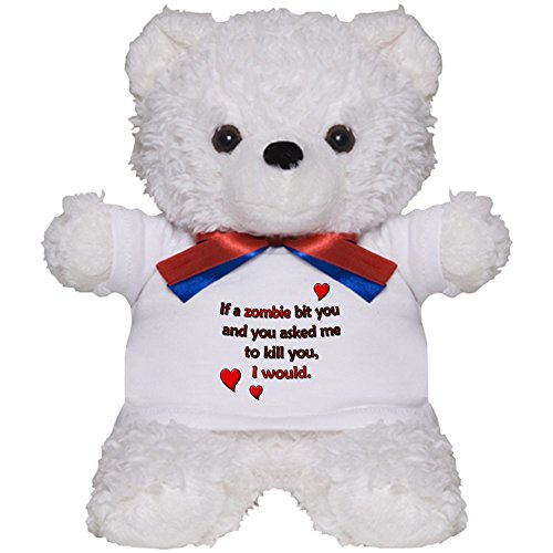 CafePress - A Zombie Apocalyptic Teddy Bear For Valentine's - Teddy Bear, Plush Stuffed (Zombie Wedding Halloween Wars)