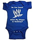 WWE Baby One Piece ''Do You Smell What My Diaper Is Cooking?'' (6 Month, Blue)