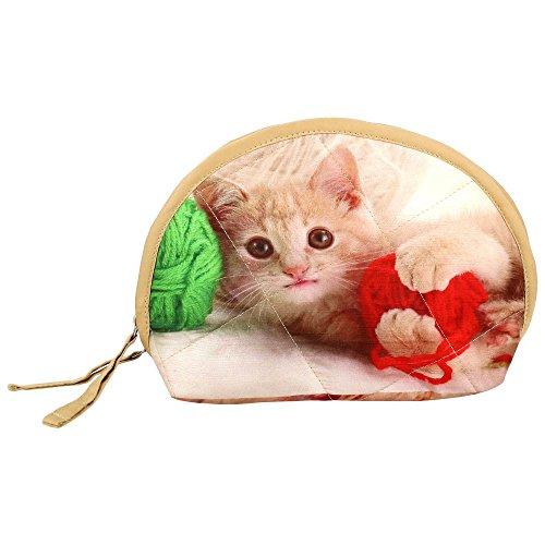 Digital Bedruckte Tier Clutch Bag Katze Gesicht Kopf Aus Polyester 8X6X2.5 Zoll, Act01-2