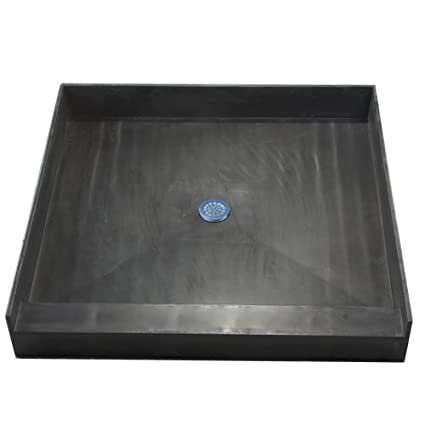 Attirant Tile Redi 3636C PVC Single Curb Shower Pan With Integrated Center PVC  Drain, 36