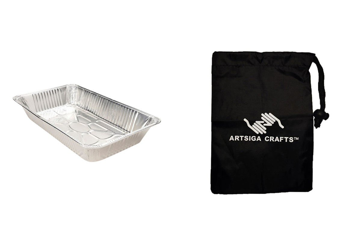 Darice Party Supplies Chafing Pan Full Size Aluminum (50 Pack) 5302 02 bundled with 1 Artsiga Crafts Small Bag