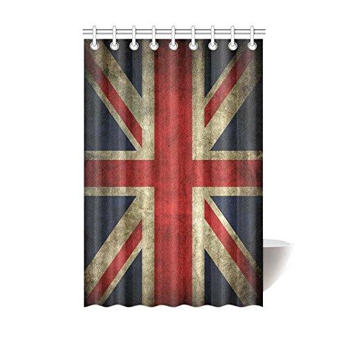 Union Jack Vintage Retro Style Waterproof Polyester Fabric Bathroom Shower Curtain 48