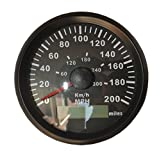"Sican 3-3/8"" GPS KM/H MPH Miles Speedometer Gauge"