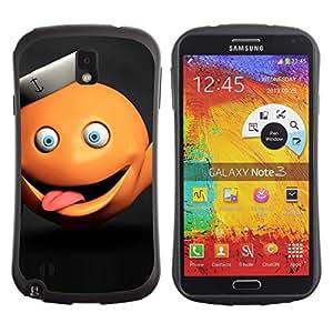 Pulsar iFace Series Tpu silicona Carcasa Funda Case para SAMSUNG Galaxy Note 3 III / N9000 / N9005 , Funny Abstract Orange Monster