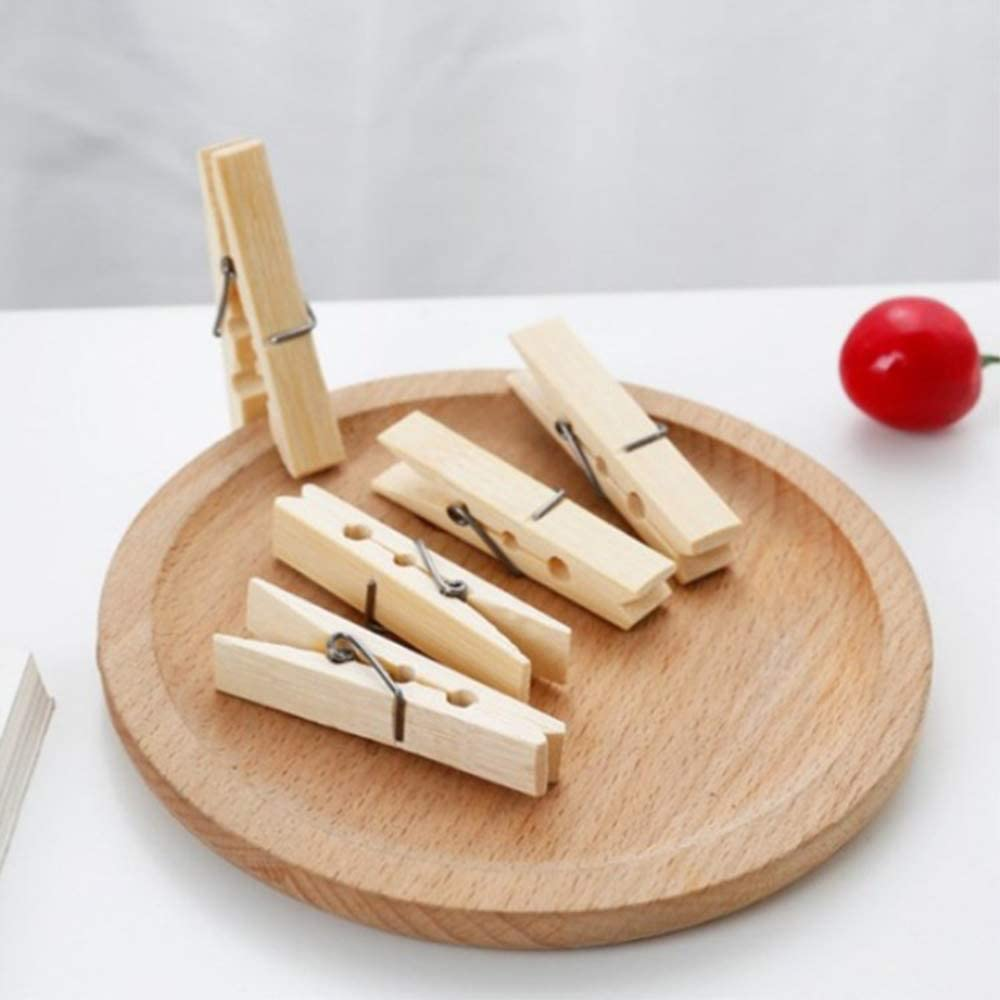 Twenty Pcs//Pack Bamboo Wood Clothes Pegs Household Clothespins Pictures Clips