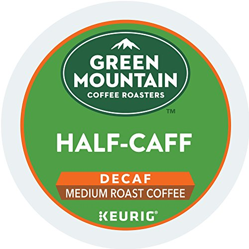 Coffee Beans Half Caff (Green Mountain Coffee Roasters Half-Caff Keurig Single-Serve K-Cup Pods, Medium Roast Coffee, 72 Count (6 boxes of 12 Pods))