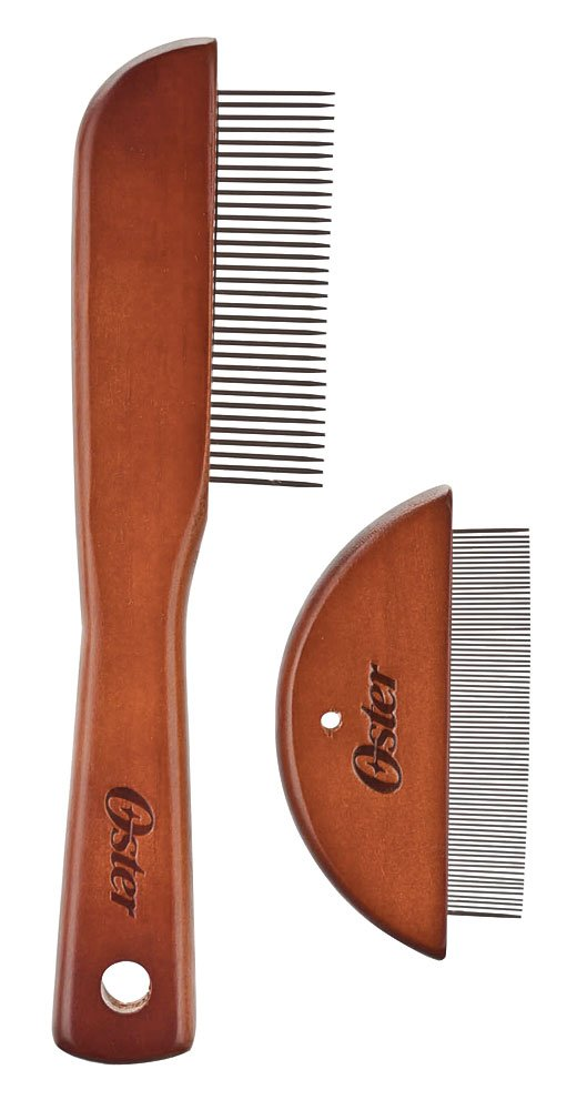 Oster Tug-Free Tools Dog Comb Set with Dog Grooming Comb and Flea Comb