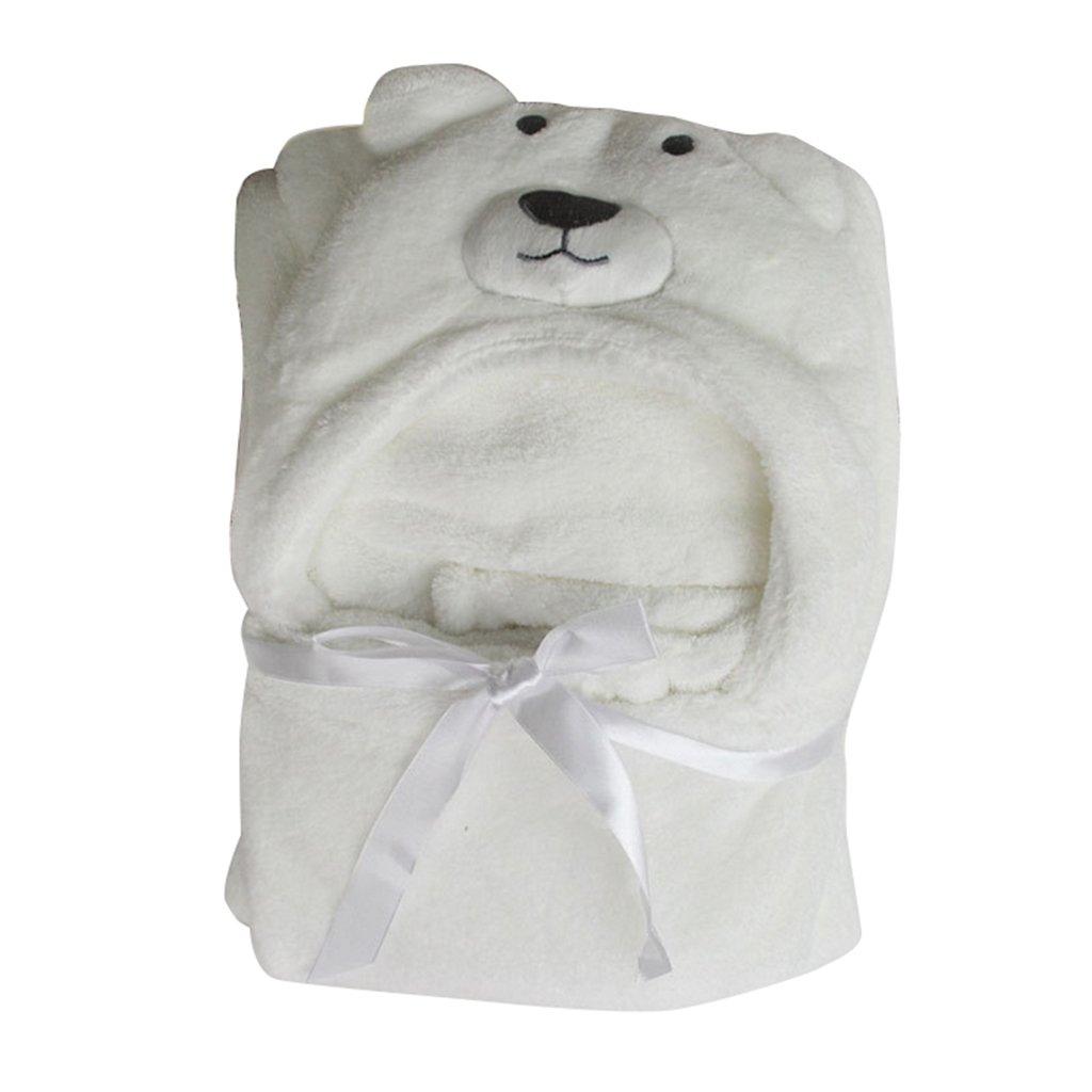 Bata De Baño Vestidor Bebé Capa Toalla Saco De Dormir Envoltura Manta Con Capucha 100*