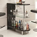 Coaster Home Furnishings Contemporary Bar Table, Black