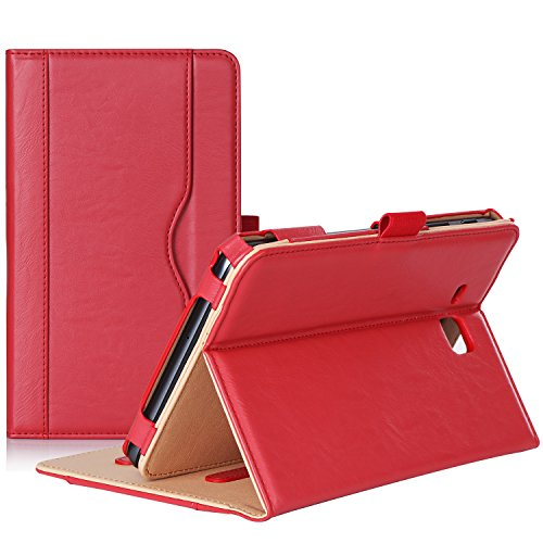 ProCase Galaxy Tab A 7.0 Case - Stand Folio Case Cover for Galaxy Tab A 7.0 SM-T280 SM-T285 Tablet, with Multiple Viewing Angles, Document Card Pocket (Red) (Keyboard For Galaxy Tab 2 7 Inch)
