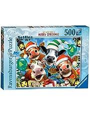 Ravensburger Vrolijk kerstpuzzel, 500 stukjes, puzzel voor volwassenen