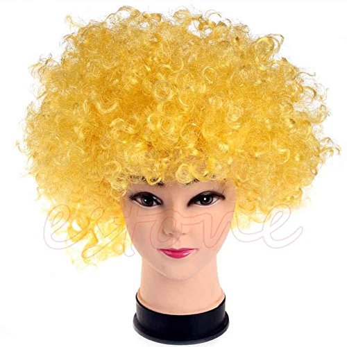 Stebc (Yellow Afro Clown Wig)