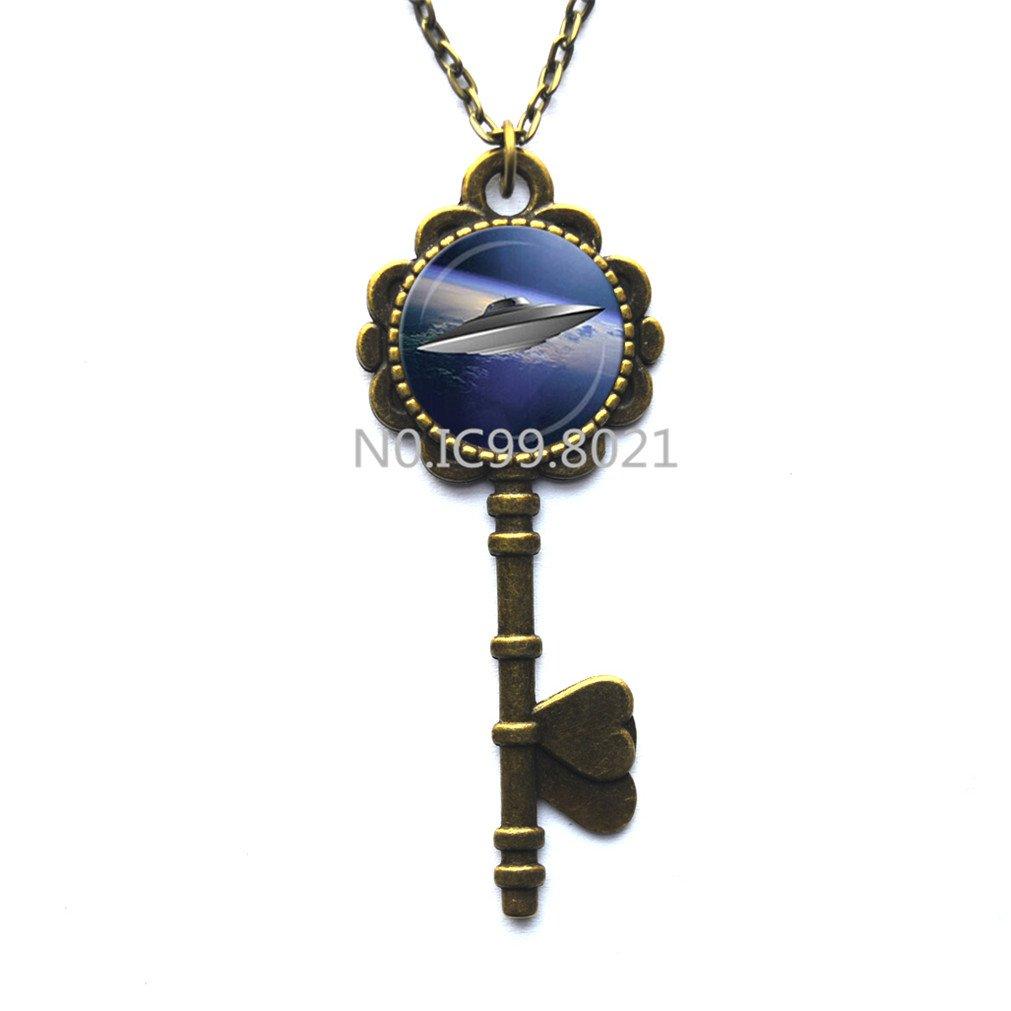 UFO Collar con llave, diseño inspirado en X-Files, UFO I ...
