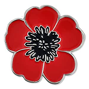 Amazon pinmart red and black poppy flower remembrance memorial pinmart red and black poppy flower remembrance memorial day enamel lapel pin mightylinksfo