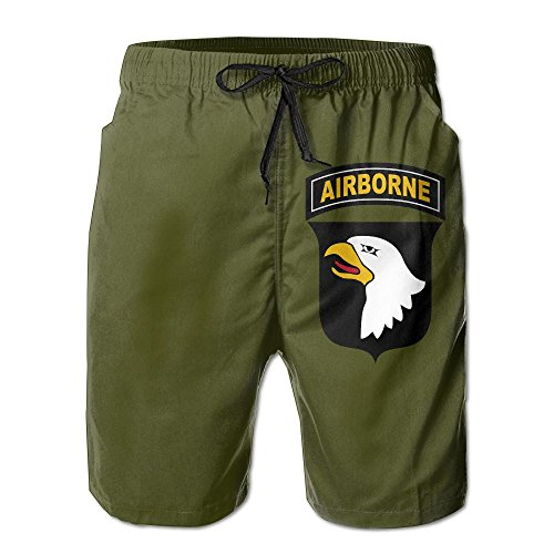 Tobyy Pants Army 101st Airborne Division Drawstring Swim Trunks Quick-Drying Beach Shorts for ()