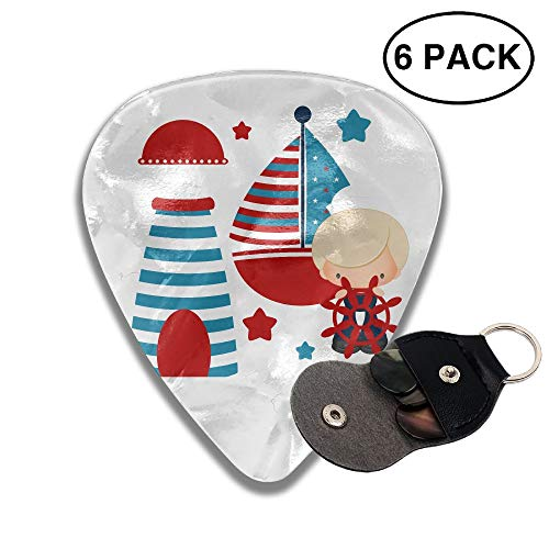 Houde Ankang Boat Clipart Ailor Boat 6 Pieces Personalized Guitar Picks. ()
