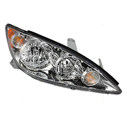 2006 Chrome Headlights Trim (Passengers Headlight Headlamp with Chrome Trim Replacement for Toyota Camry 8111006180)