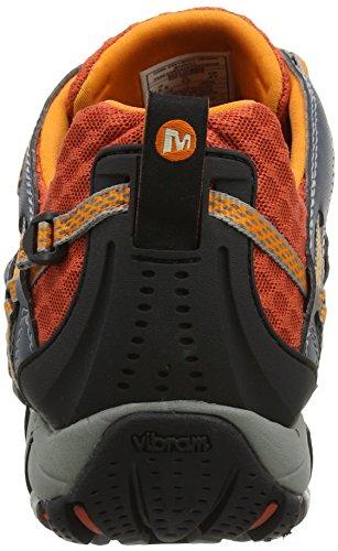 Sperry A/O 2-EYE METALLIC KID SUEDE Damen Bootsschuhe Mehrfarbig (Dark Grey/Spicy Orange)