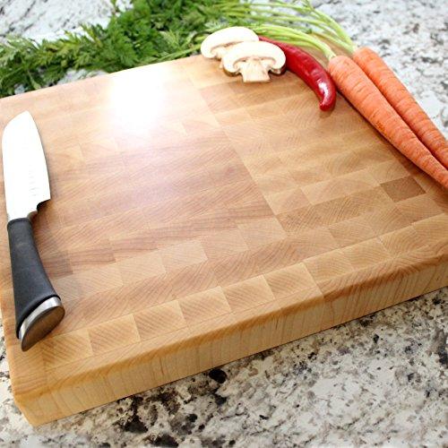 End Grain Maple Chopping Block 12x14x1.5 inch - Engraved Cutting Board, Custom Cutting Board, Wedding Gift, Housewarming Gift, Anniversary Gift, Engagement W-052GB