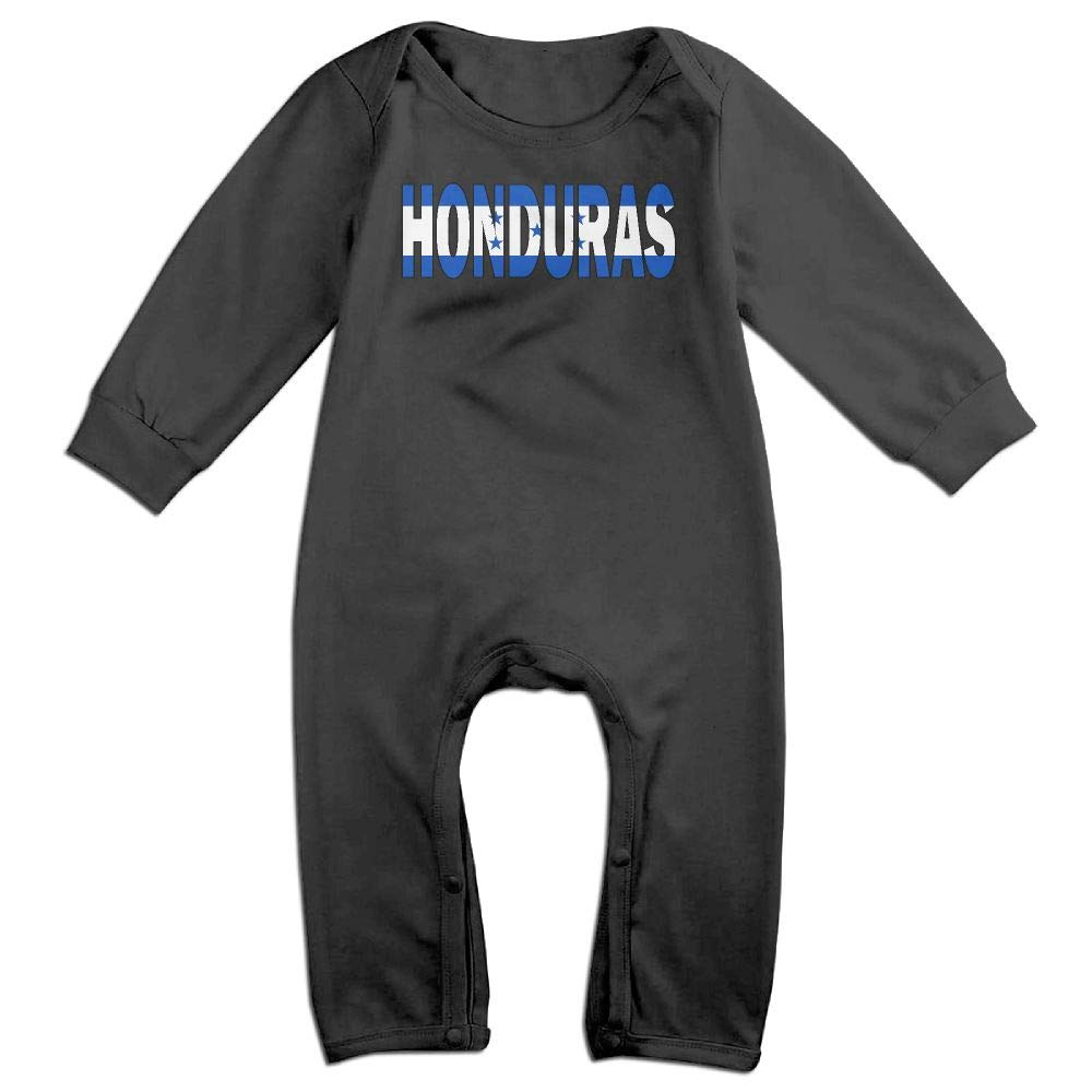 UGFGF-S3 Honduras Flag Long Sleeve Infant Baby Romper Jumpsuit Onsies for 6-24 Months Bodysuit